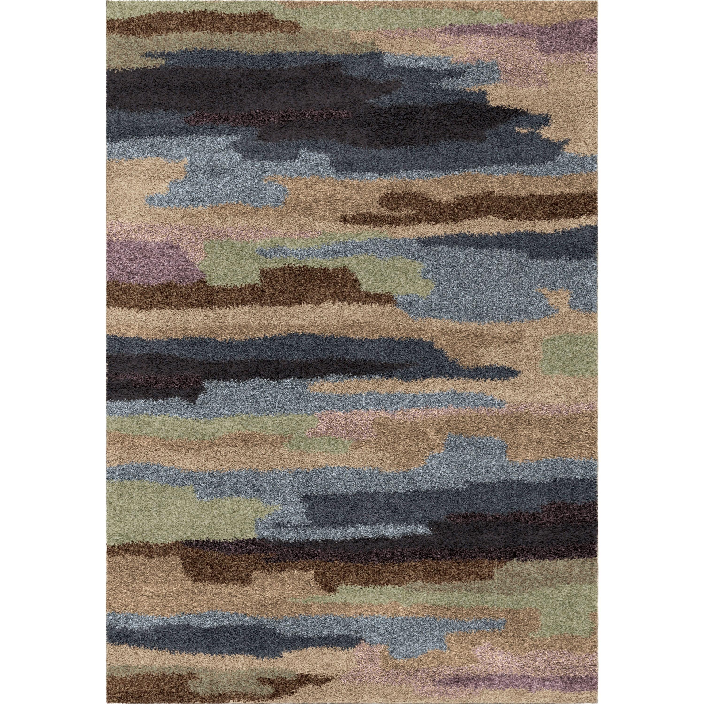 "Wild Weave Pickard Rainbow 5'3"" x 7'6"" Rug by Orian Rugs at Mueller Furniture"