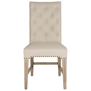 Wilshire Upholstered Dining Side Chair with Nailhead