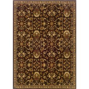5 x 7.6 Area Rug : Brown