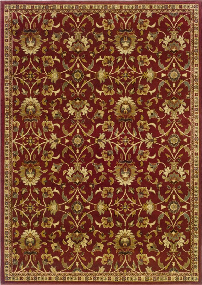5 x 7.6 Area Rug : Red