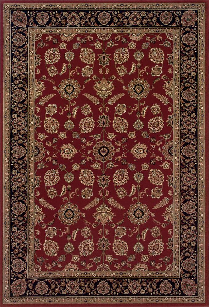 6.7 x 9.6 Area Rug : Red