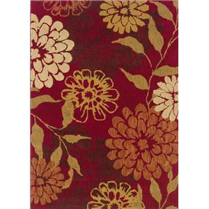 5.3 x 7.6 Area Rug : Red