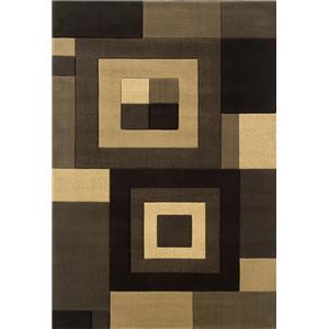 5.3 x 7.9 Area Rug : Medium Brown