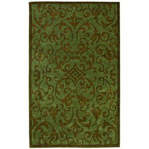 5 x 8 Area Rug : Green