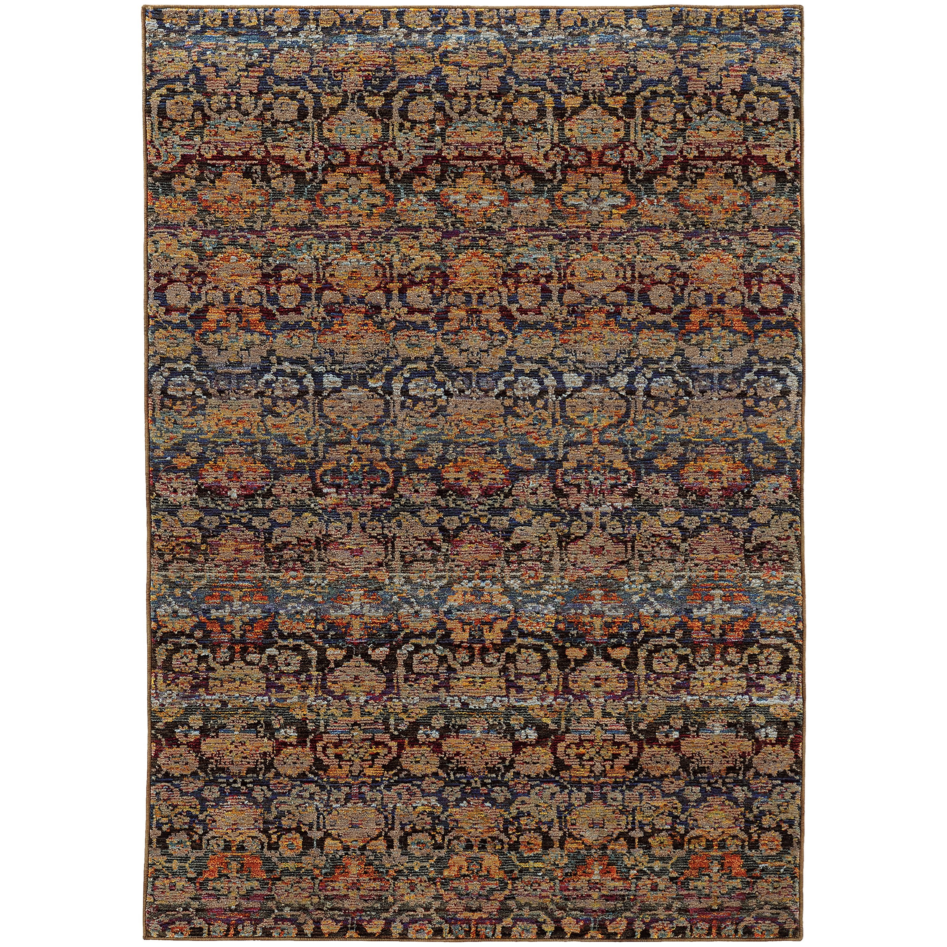 """Andorra 3' 3"""" X  5' 2"""" Casual Multi/ Blue Rectangle  by Oriental Weavers at Steger's Furniture"""