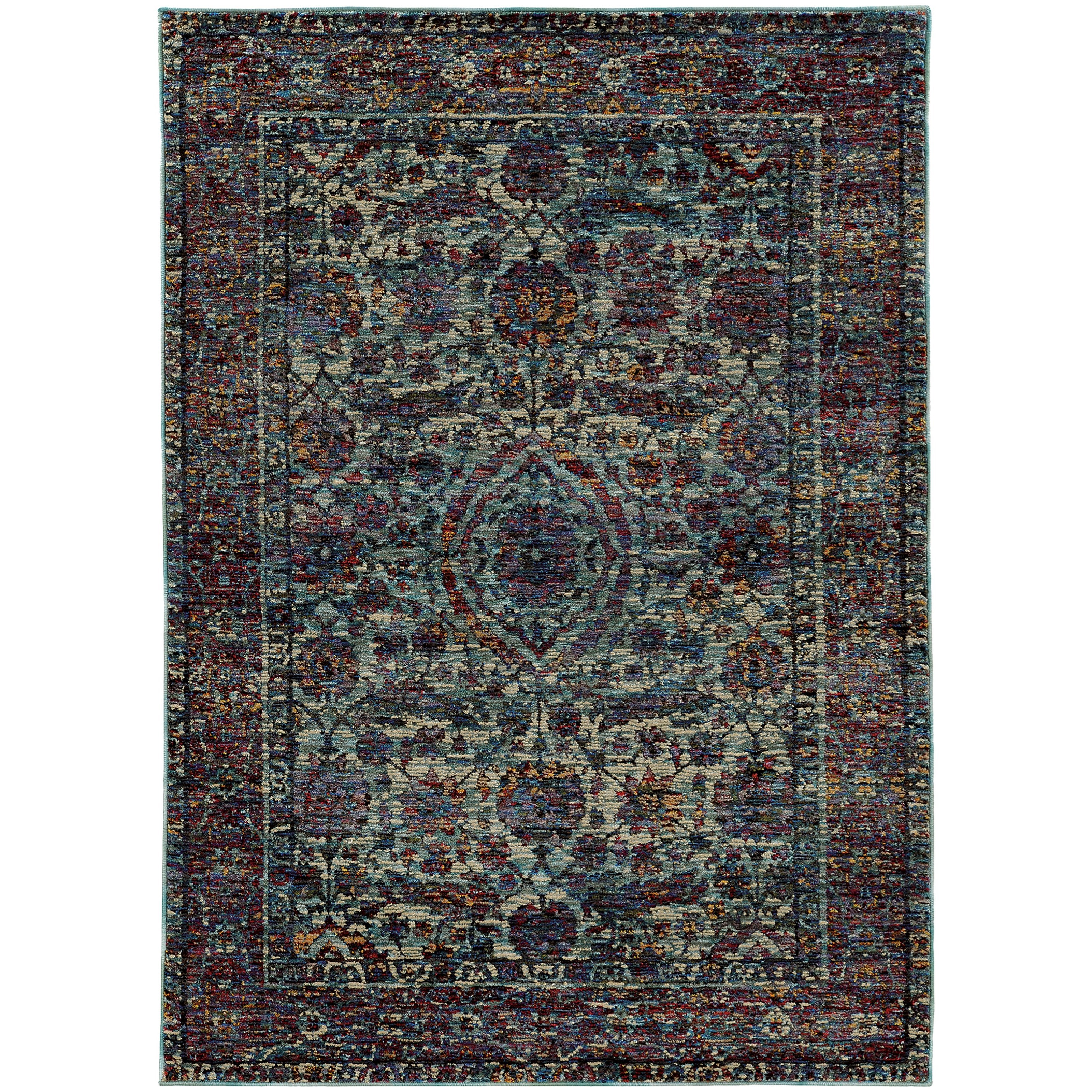 """Andorra 6' 7"""" X  9' 6"""" Casual Blue/ Purple Rectangle by Oriental Weavers at Steger's Furniture"""