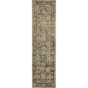 "5' 3"" X  7' 3"" Casual Green/ Brown Rectangle Rug"
