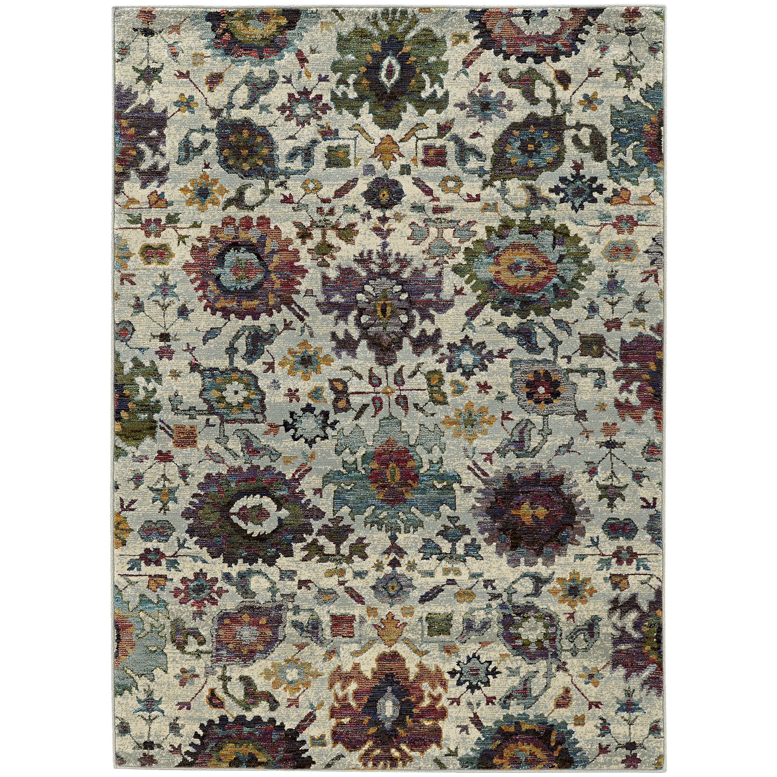 """Andorra 5' 3"""" X  7' 3"""" Casual Stone/ Multi Rectangle by Oriental Weavers at Steger's Furniture"""