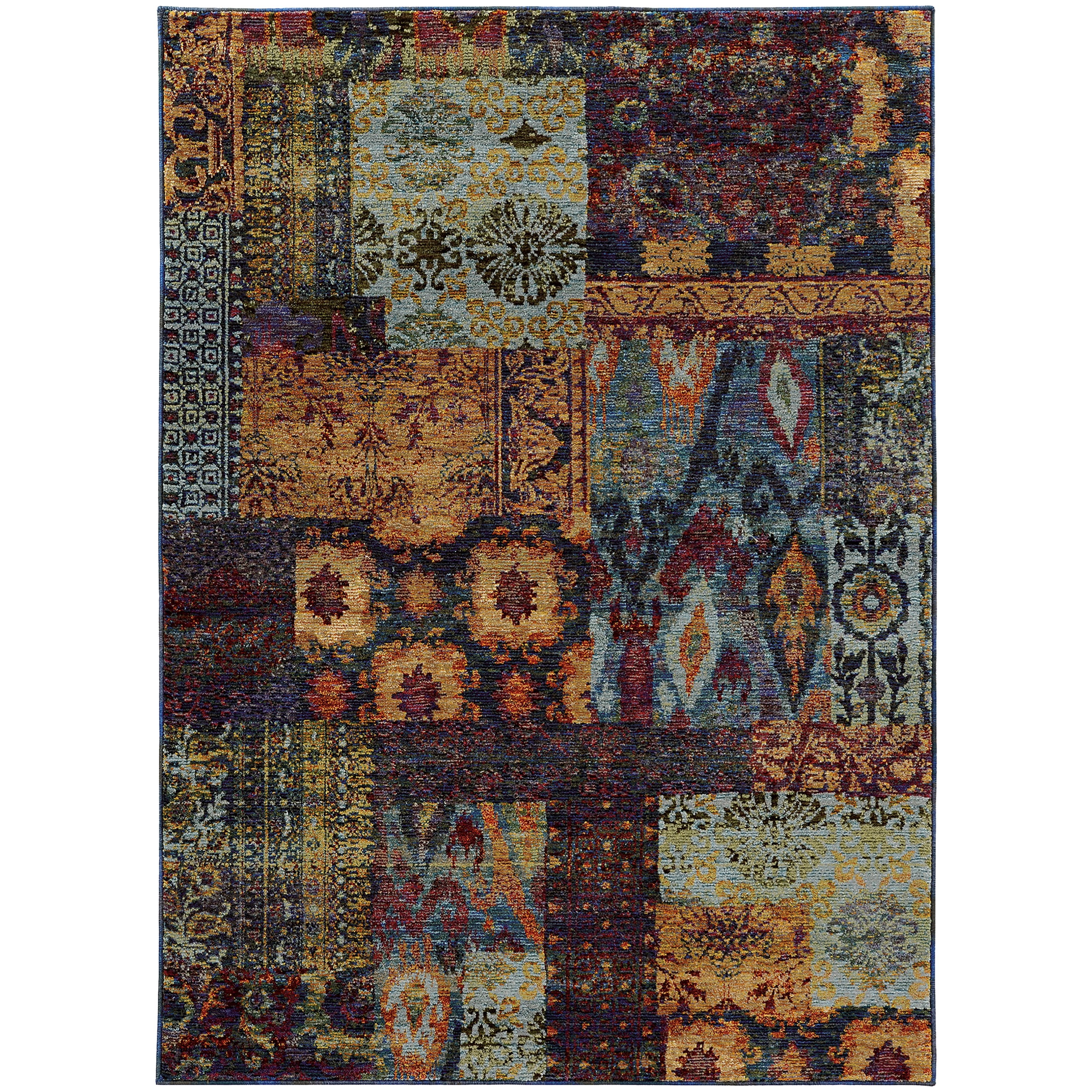 """Andorra 5' 3"""" X  7' 3"""" Casual Multi/ Blue Rectangle  by Oriental Weavers at Steger's Furniture"""