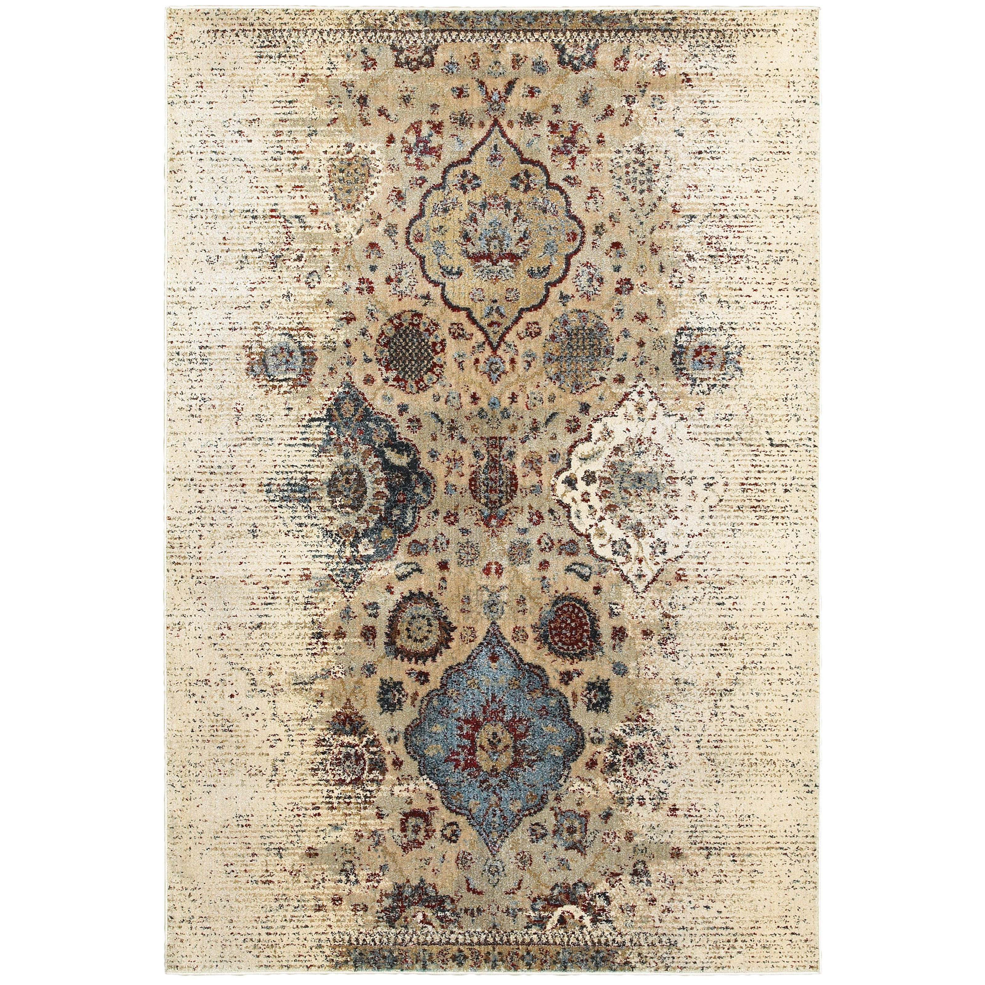 """Empire 7'10"""" X 10'10"""" Casual Ivory/ Blue Rectangle  by Oriental Weavers at Miller Waldrop Furniture and Decor"""
