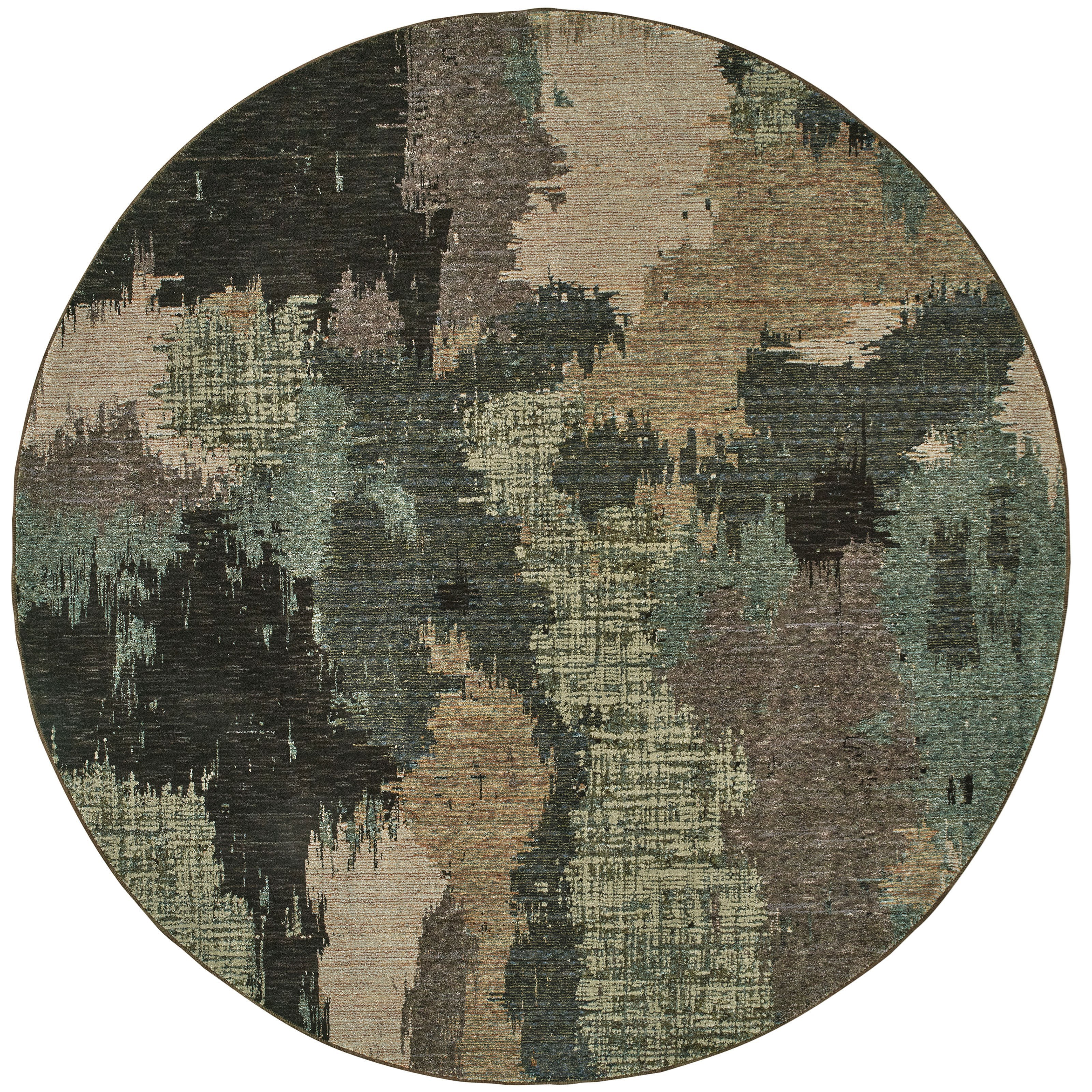 "EVOLUTION 7'10"" Round Rug by Oriental Weavers at Steger's Furniture"