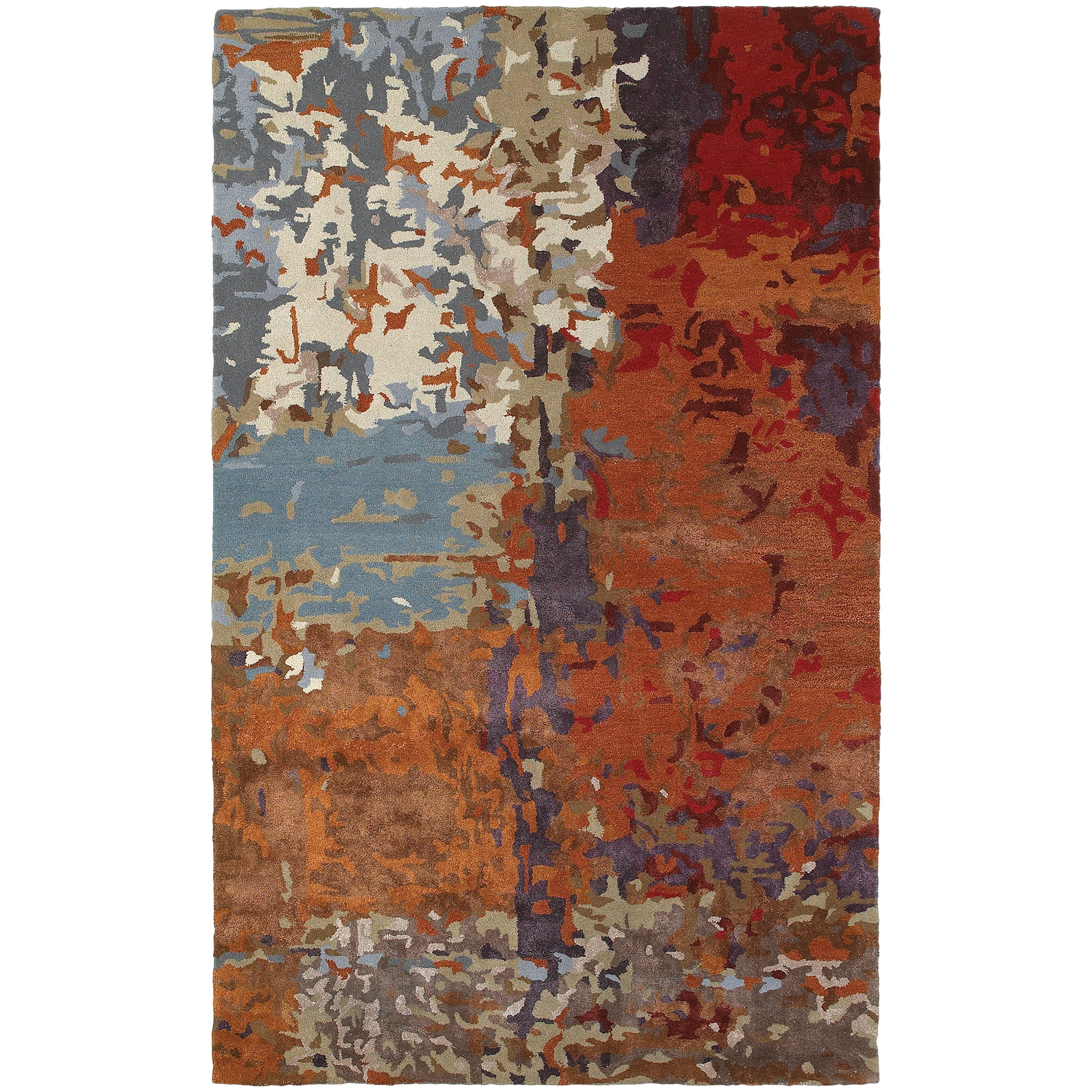 """Galaxy 8' 0"""" X 10' 0"""" Contemporary Multi/ Orange Re by Oriental Weavers at Steger's Furniture"""