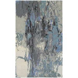 "8' 0"" X 10' 0"" Contemporary Blue/ Grey Rectangle Rug"