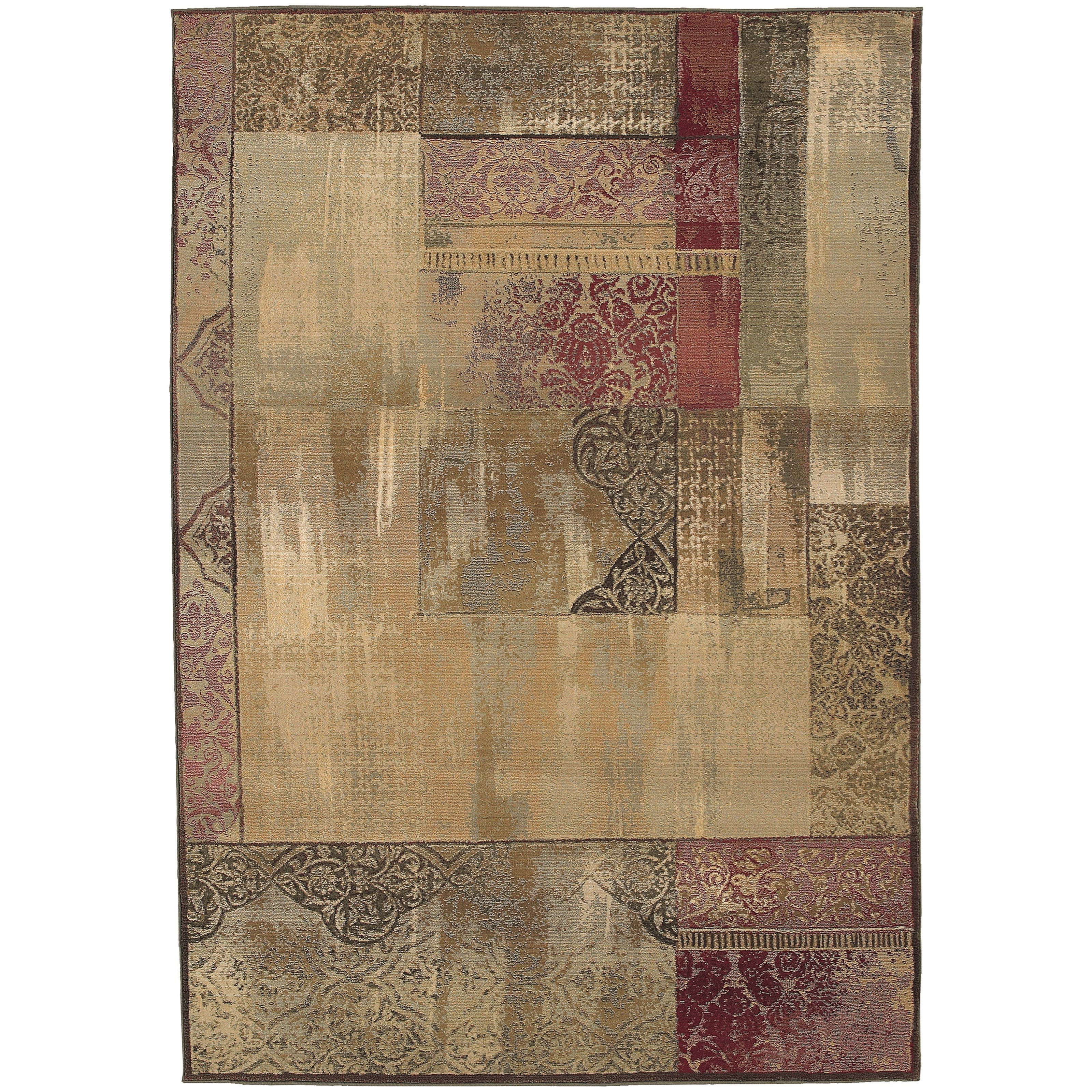 Generations 8' Casual Green/ Beige Square Rug by Oriental Weavers at Steger's Furniture