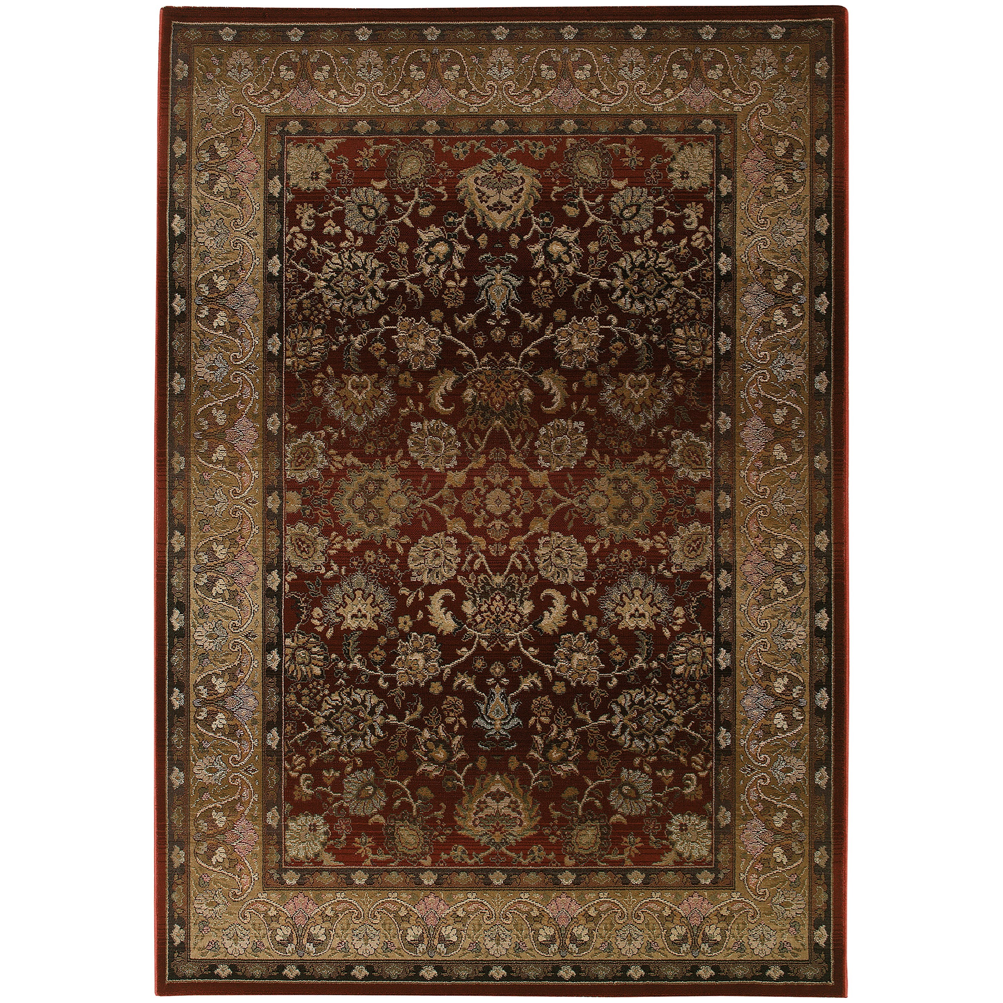 Generations 8' Traditional Red/ Beige Square Rug by Oriental Weavers at Steger's Furniture