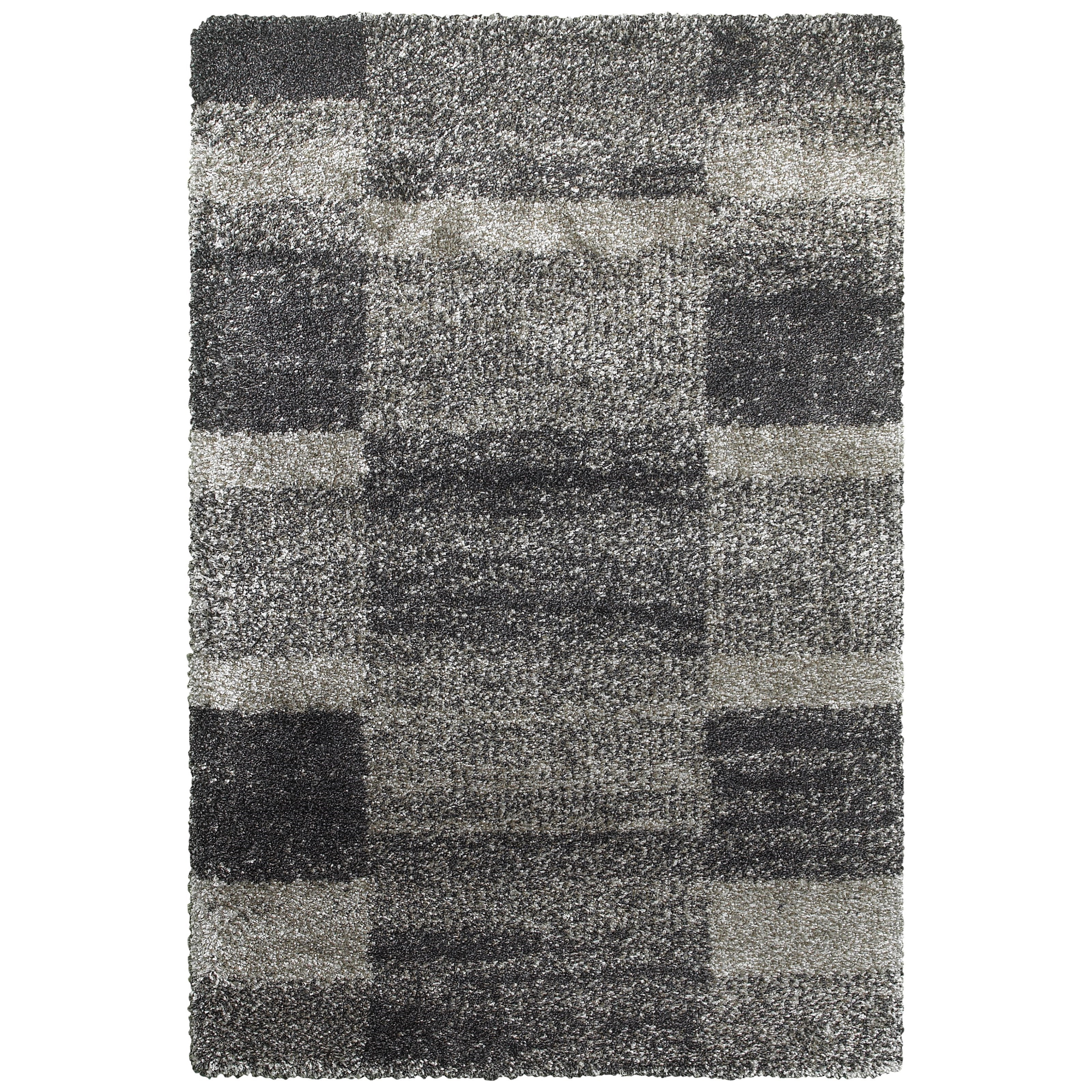 "Henderson 5' 3"" X  7' 6"" Shag Grey/ Charcoal Rectangle by Oriental Weavers at Darvin Furniture"