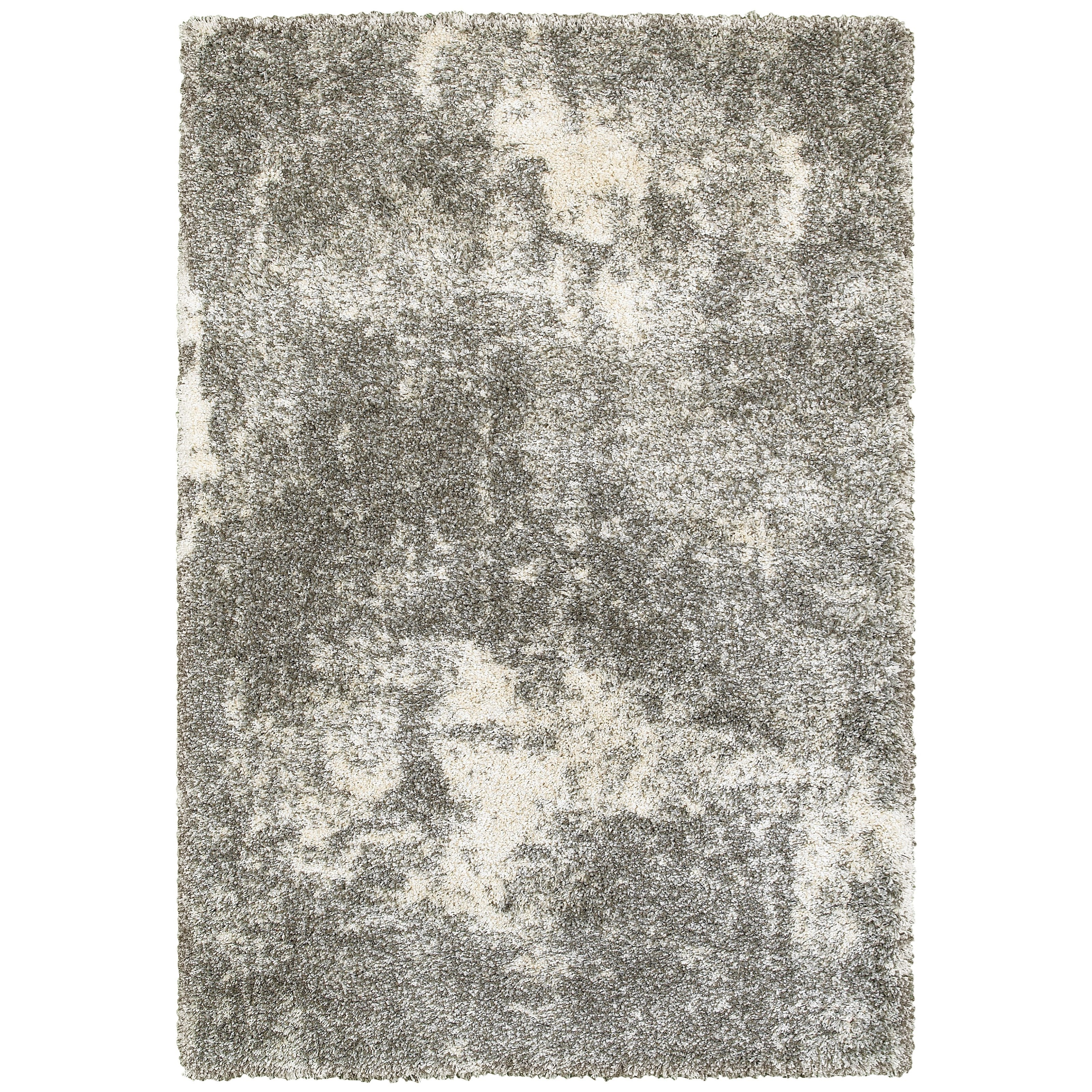 """Henderson 9'10"""" X 12'10"""" Shag Grey/ Ivory Rectangle Ru by Oriental Weavers at Miller Waldrop Furniture and Decor"""