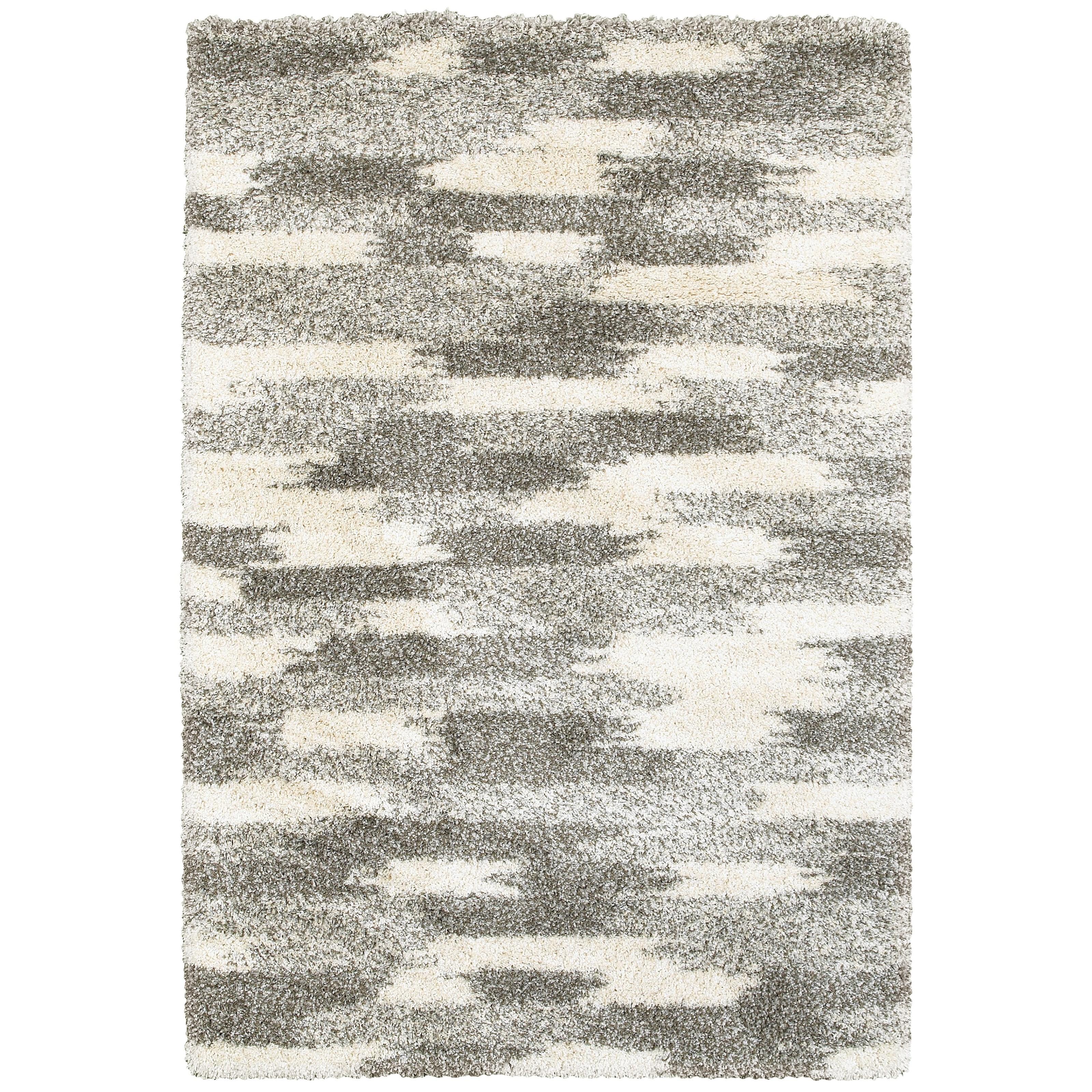 "Henderson 3'10"" X  5' 5"" Shag Grey/ Ivory Rectangle Ru by Oriental Weavers at Lucas Furniture & Mattress"