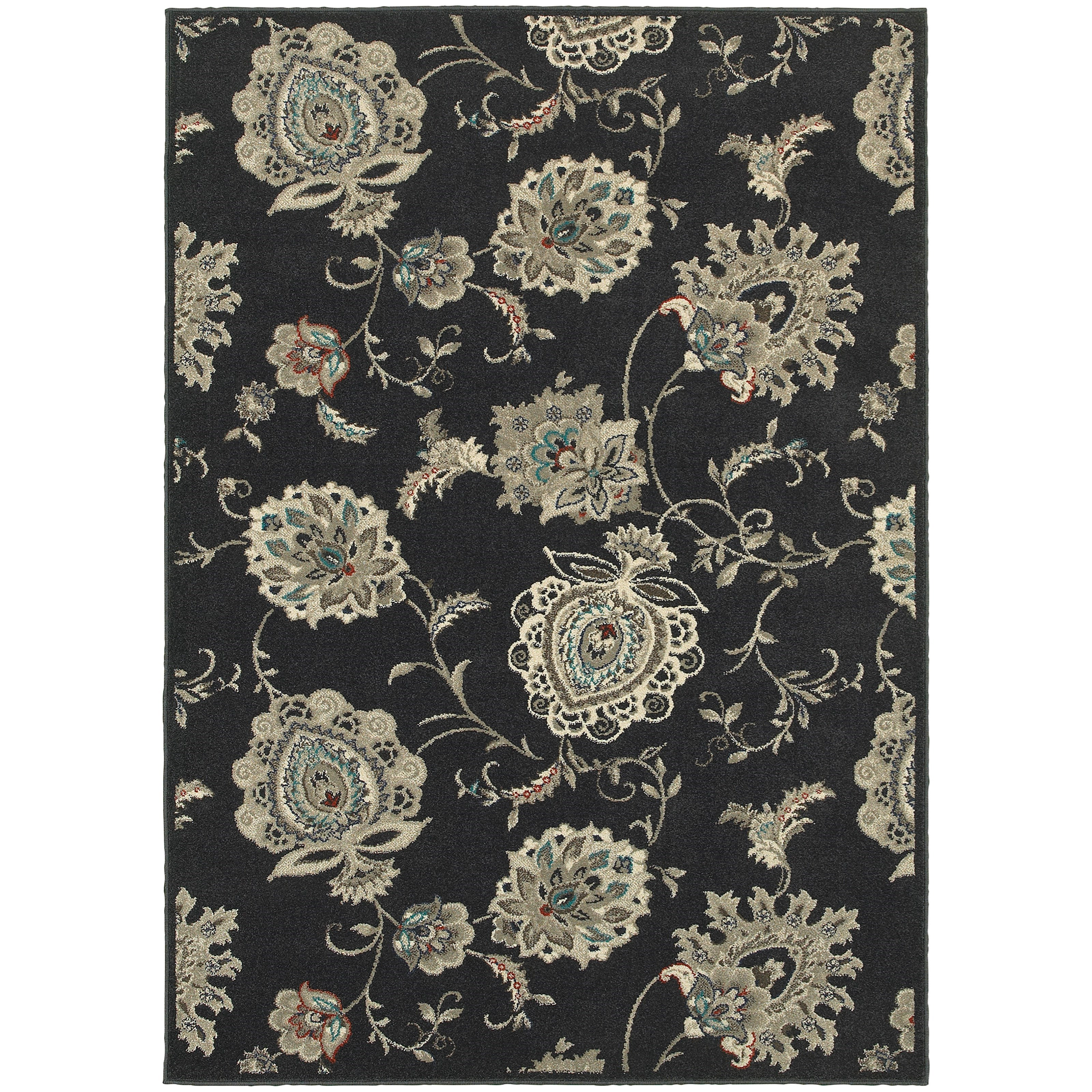 """Highlands 3'10"""" X  5' 5"""" Rectangle Area Rug by Oriental Weavers at Novello Home Furnishings"""