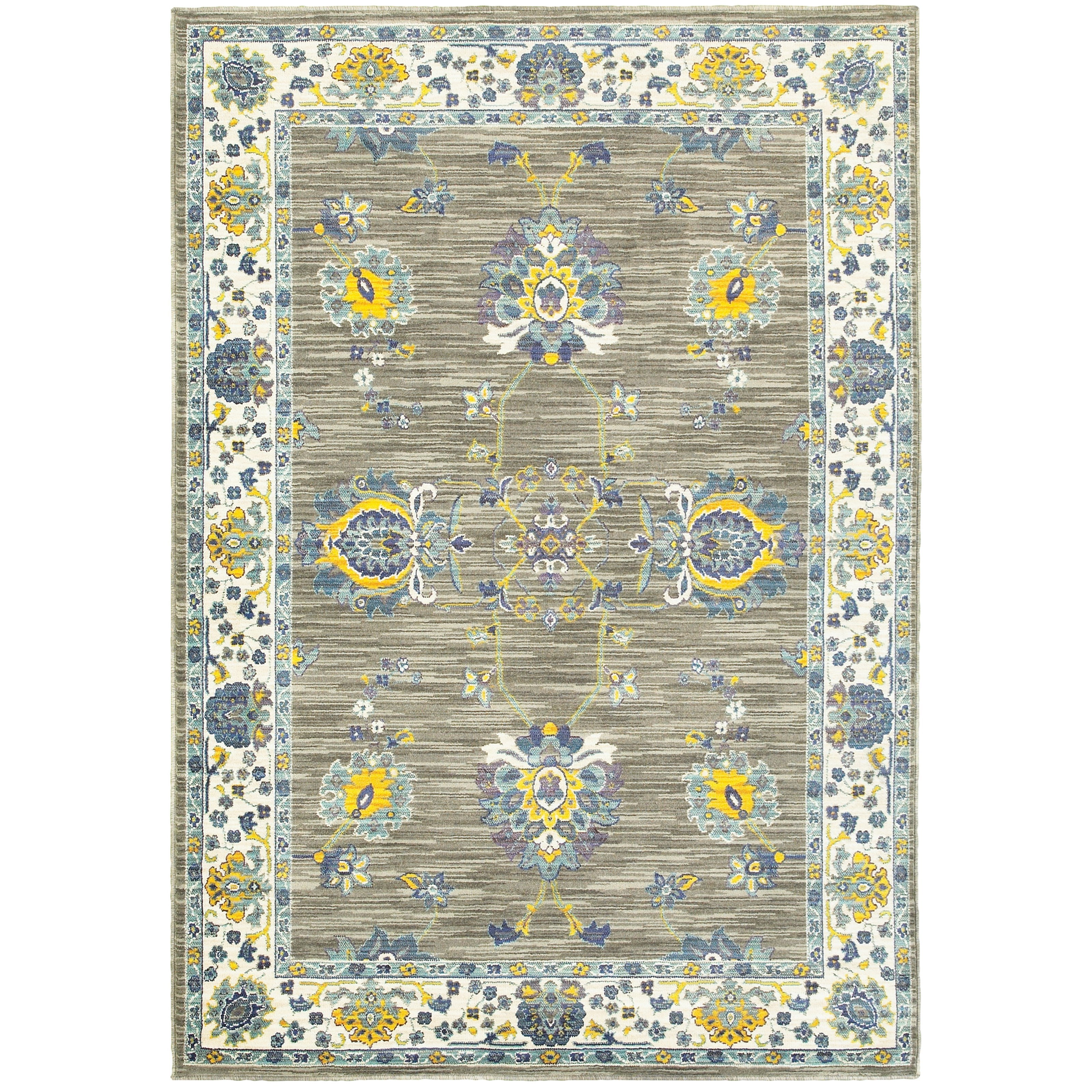 """Joli 9'10"""" X 12'10"""" Traditional Grey/ Yellow Rect by Oriental Weavers at Furniture Superstore - Rochester, MN"""