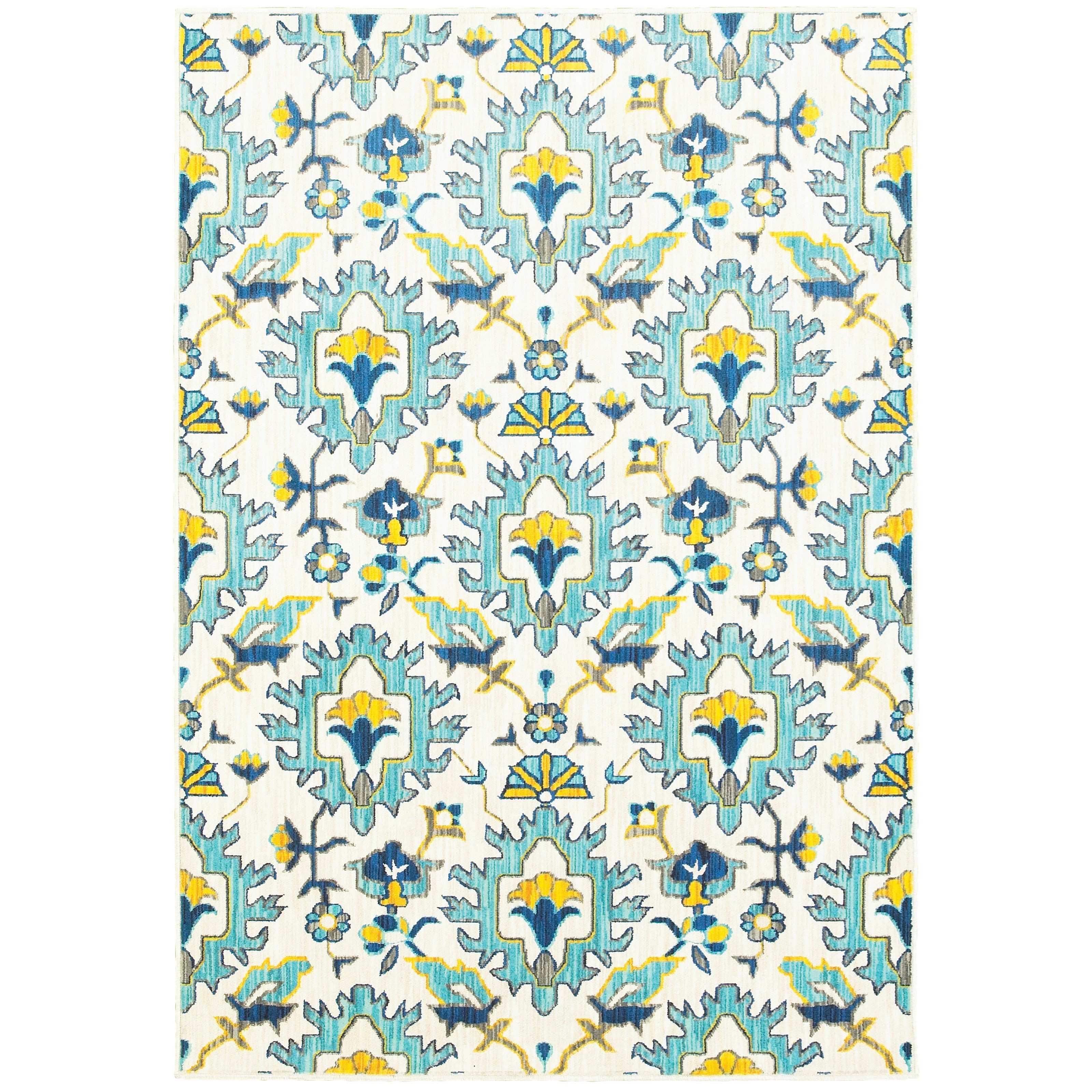 "Joli 3'10"" X  5' 5"" Casual Ivory/ Blue Rectangle  by Oriental Weavers at Esprit Decor Home Furnishings"