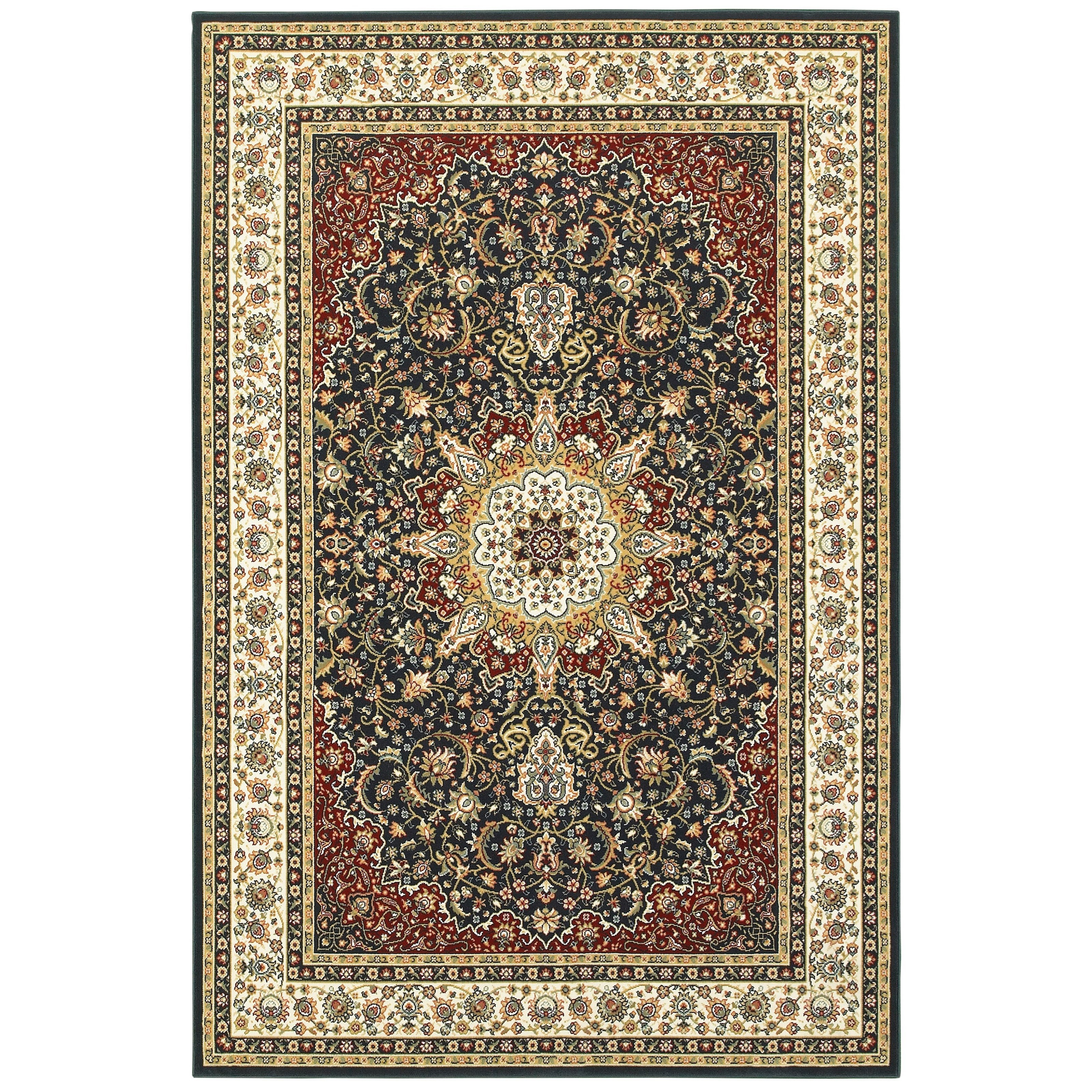 "Kashan 3'10"" X  5' 5"" Rectangle Rug by Oriental Weavers at Novello Home Furnishings"