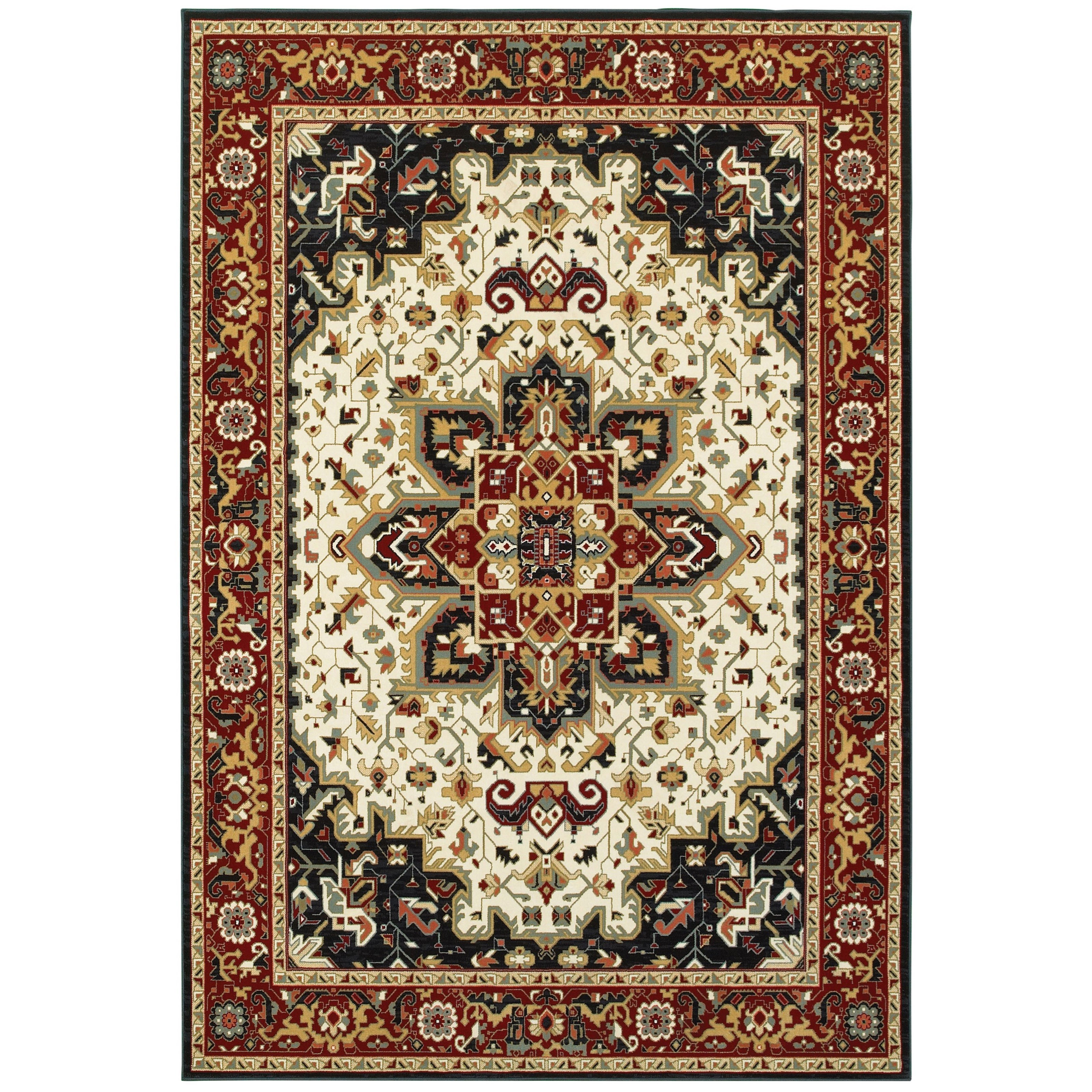 """Kashan 7'10"""" X 10'10"""" Rectangle Rug by Oriental Weavers at Steger's Furniture"""