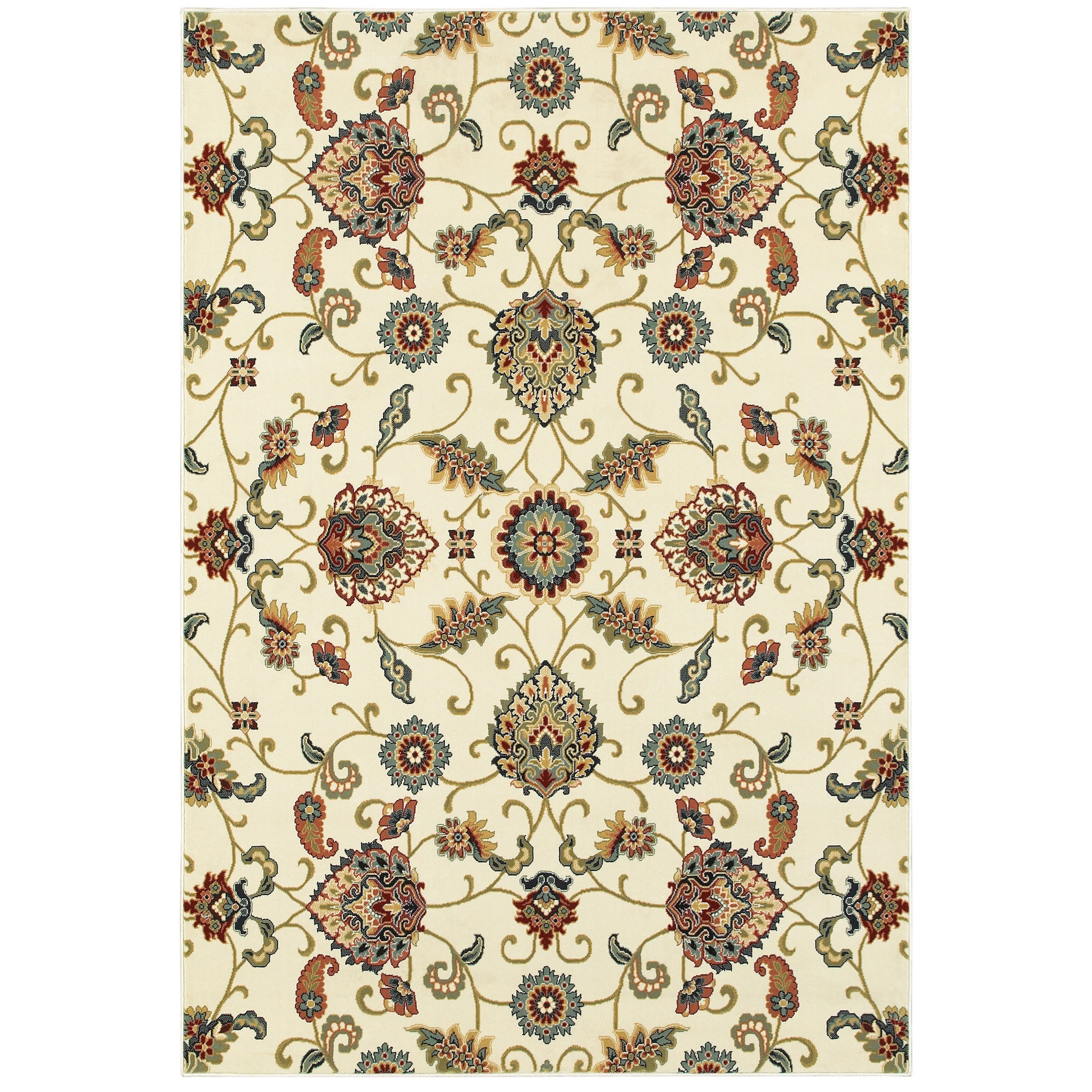 "Kashan 5' 3"" X  7' 6"" Rectangle Rug by Oriental Weavers at Novello Home Furnishings"
