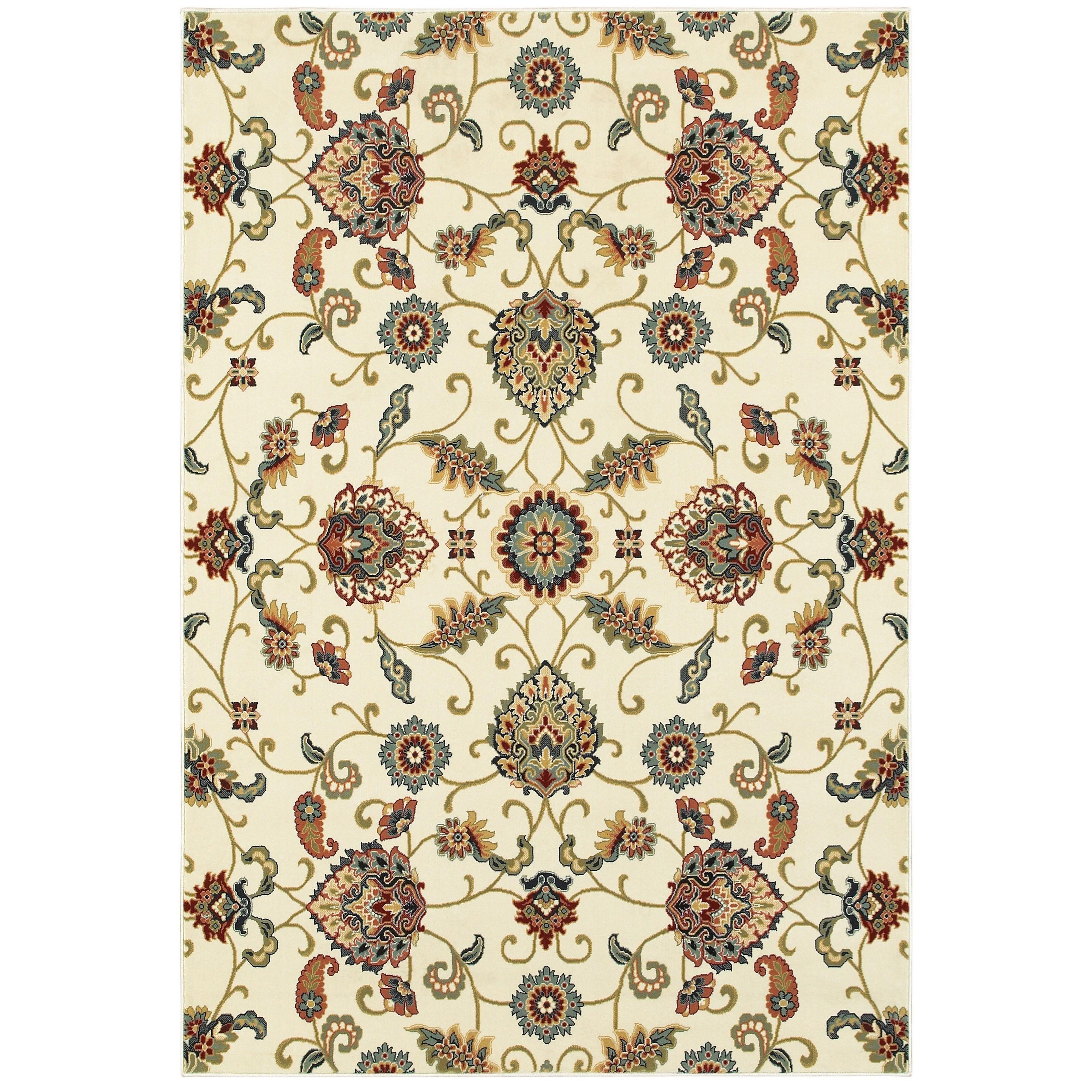 "Kashan 7'10"" X 10'10"" Rectangle Rug by Oriental Weavers at Lucas Furniture & Mattress"