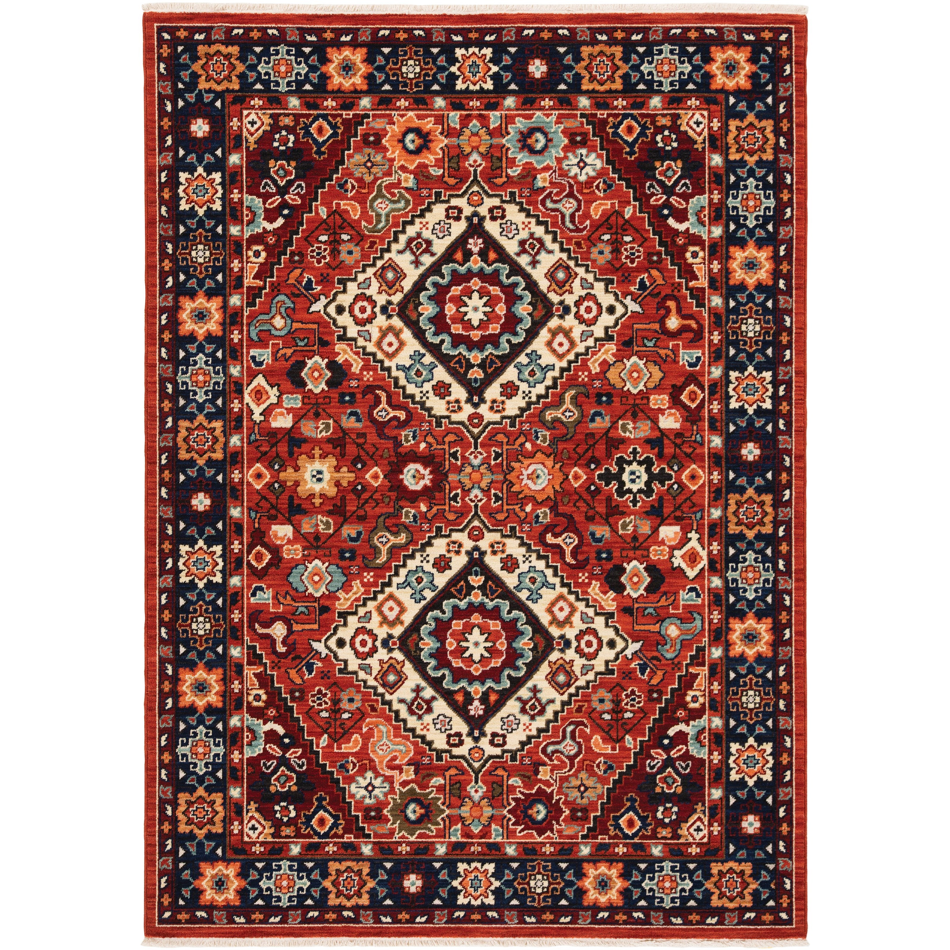 """Lilihan 7'10"""" X 10'10"""" Rectangle Rug by Oriental Weavers at Godby Home Furnishings"""