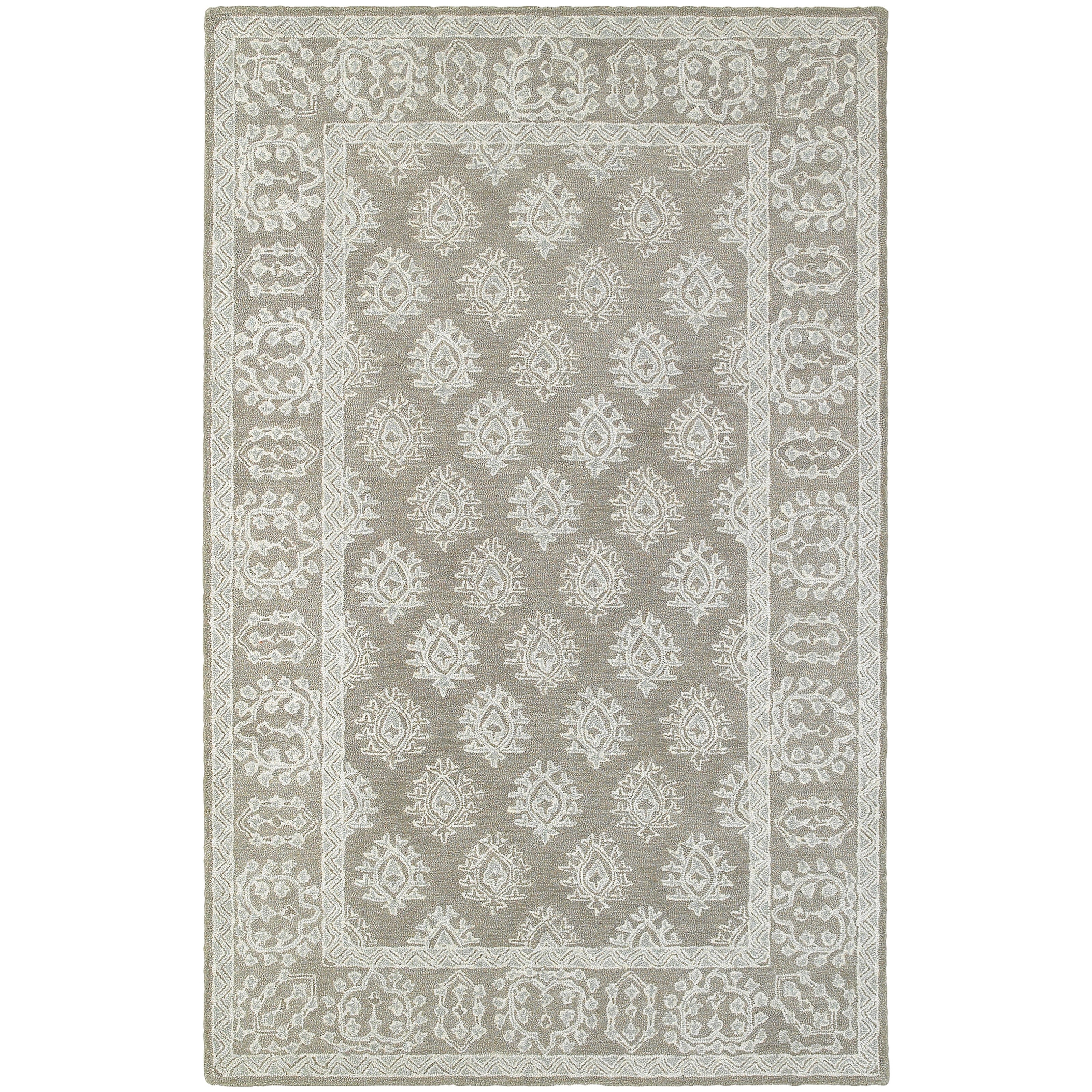 """Manor 3' 6"""" X  5' 6"""" Casual Grey/ Beige Rectangle  by Oriental Weavers at Lucas Furniture & Mattress"""