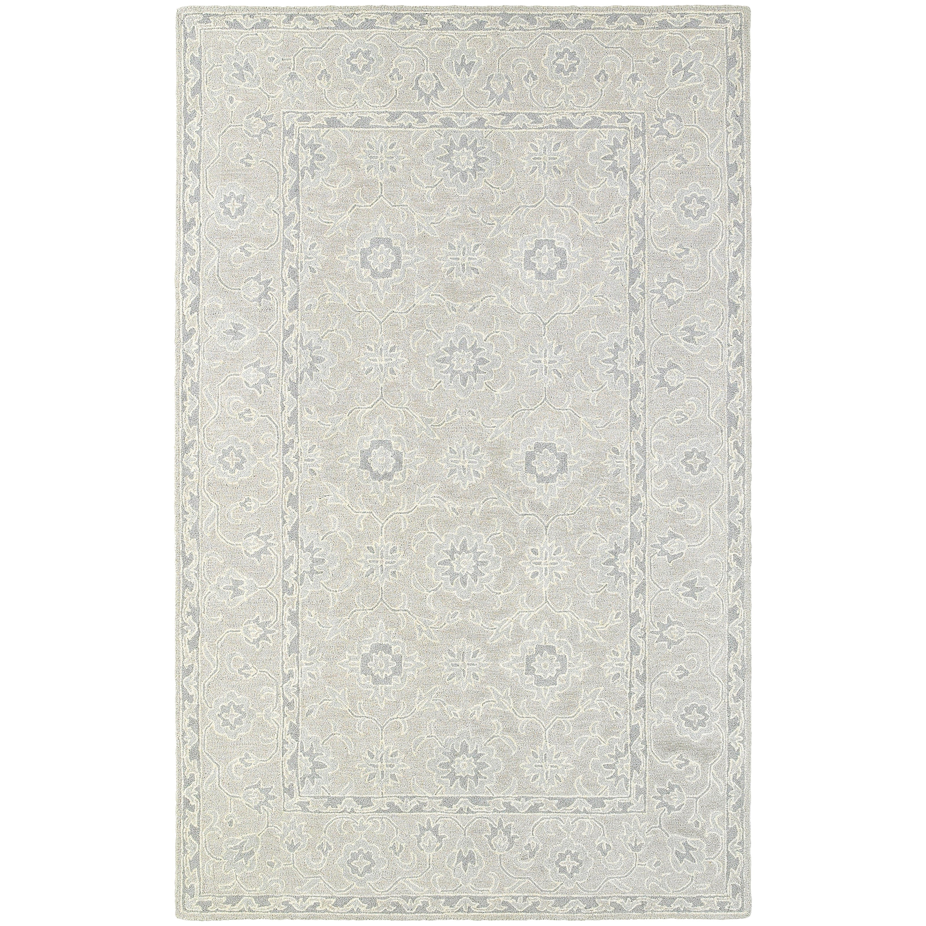 """Manor 8' 0"""" X 10' 0"""" Casual Beige/ Grey Rectangle  by Oriental Weavers at Miller Waldrop Furniture and Decor"""