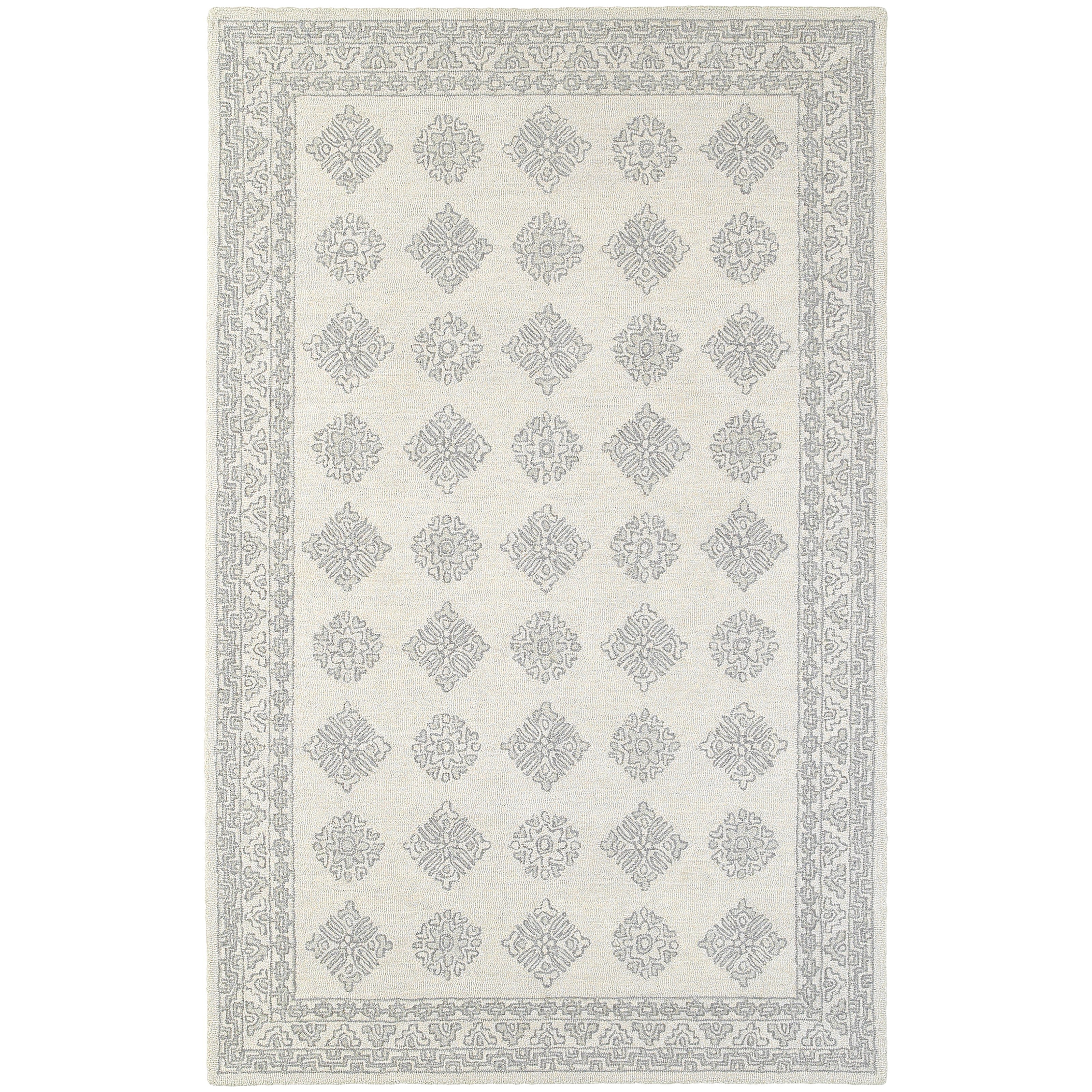 """Manor 8' 0"""" X 10' 0"""" Casual Grey/ Beige Rectangle  by Oriental Weavers at Steger's Furniture"""