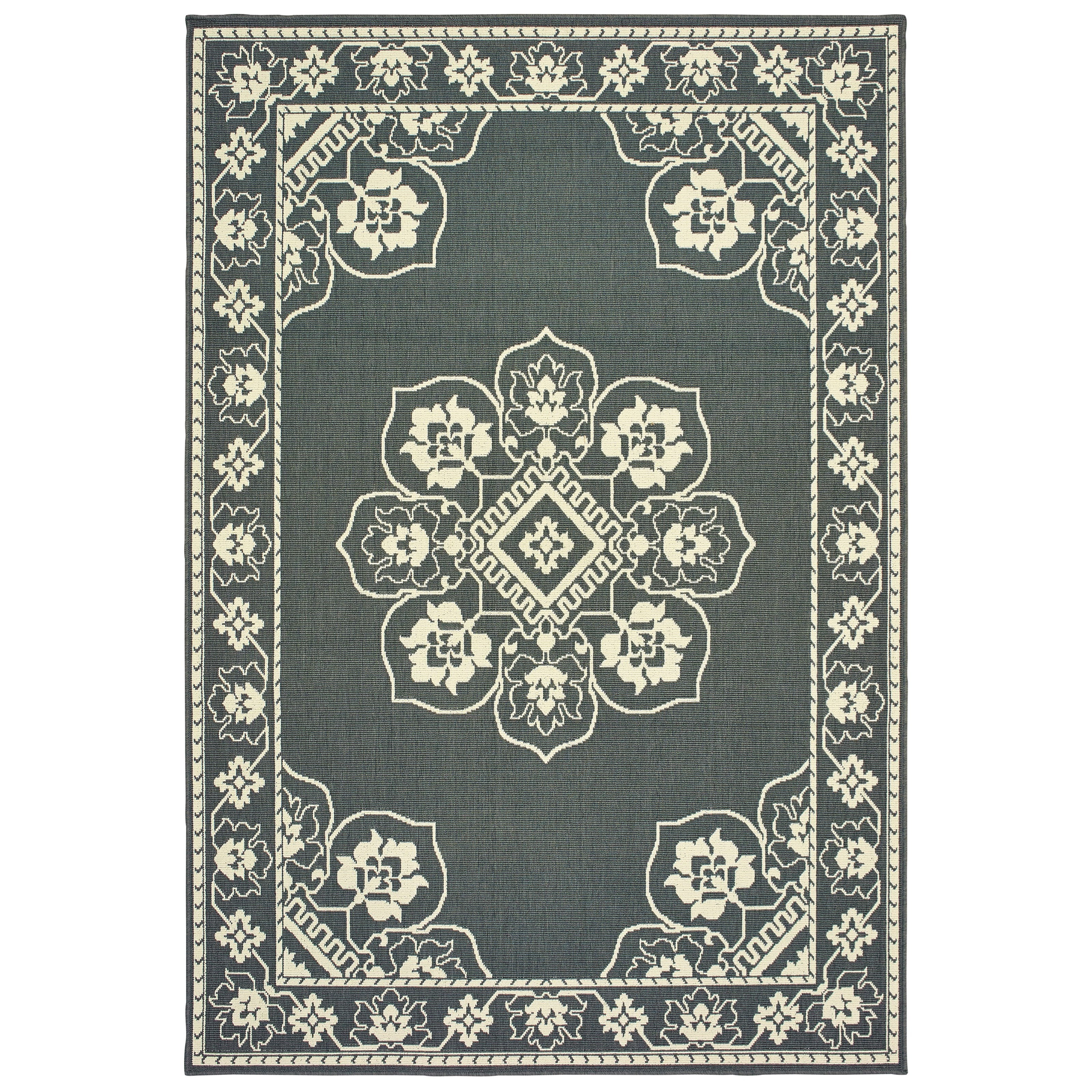 "Marina 7'10"" X  7'10"" Round Rug by Oriental Weavers at Dunk & Bright Furniture"