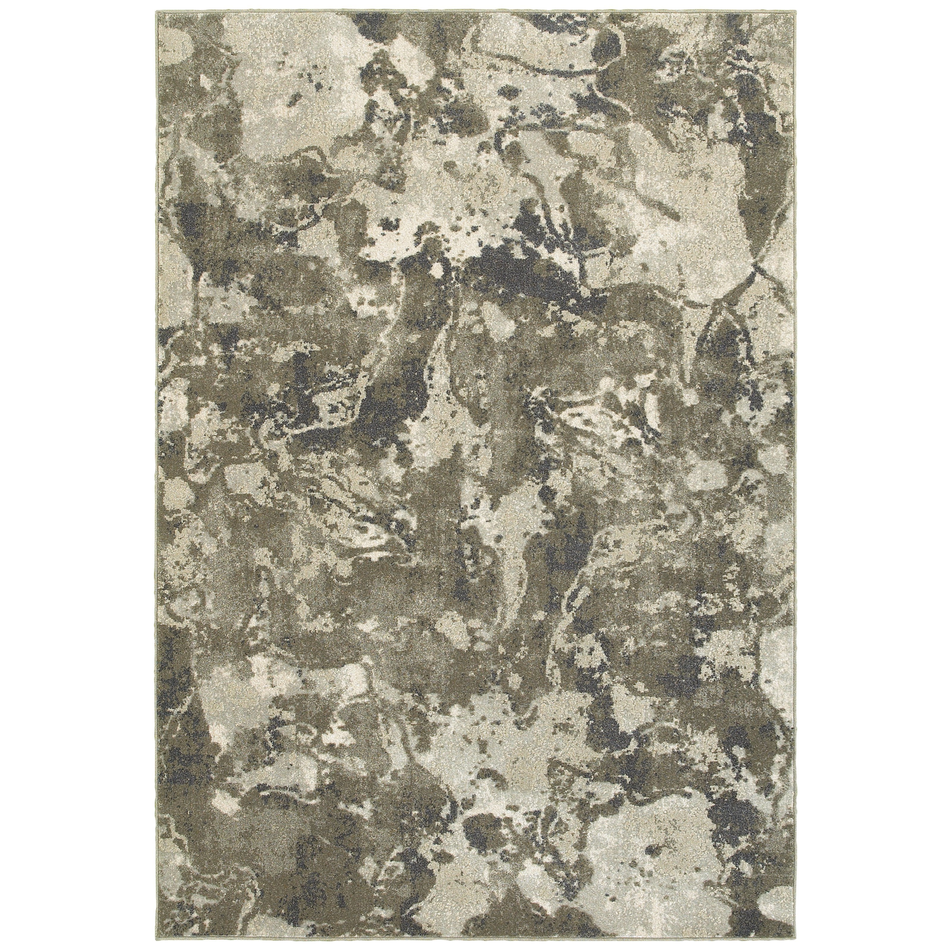 """Rowan 5' 3"""" X  7' 6"""" Contemporary Grey/ Ivory Rect by Oriental Weavers at Novello Home Furnishings"""