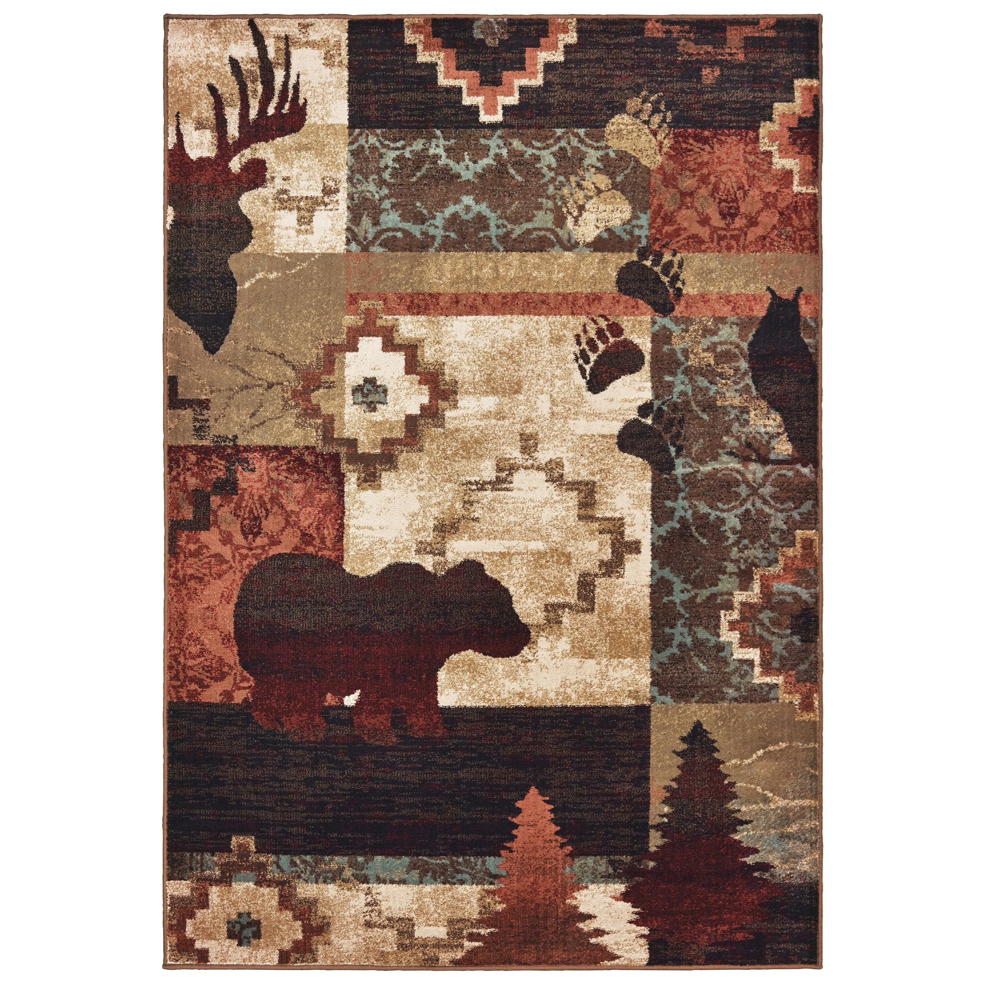 """Woodlands 7'10"""" X 10' Rectangle Rug by Oriental Weavers at Steger's Furniture"""