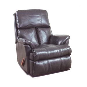 100% Leather Chaise Rocker Recliner