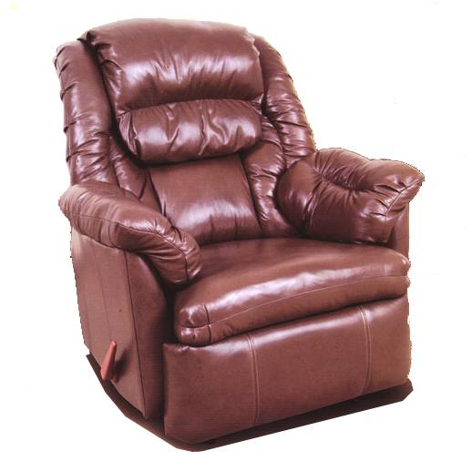 Reserve Seating 100% Leather Rocker Recliner w/ Coil Seating by Ort Manufacturing at Wayside Furniture