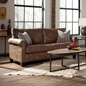 Queen Sleeper Sofa with Rolled Arms
