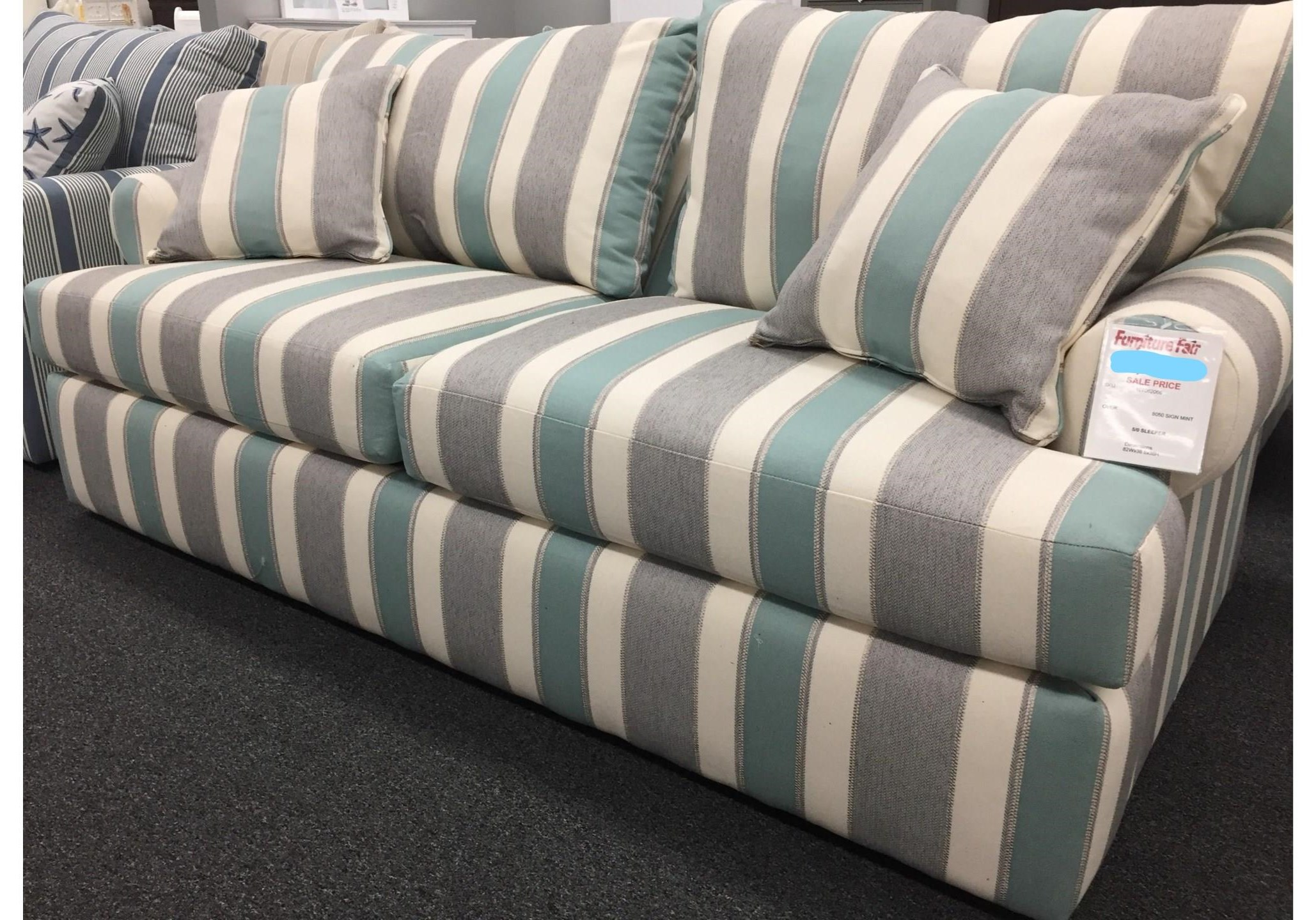 Coastal Sleeper Collection 8050 Signature Mist Queen Sleeper by Overnight Sofa at Furniture Fair - North Carolina