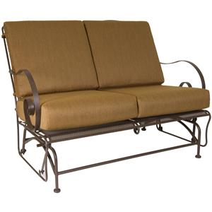 Glider Love Seat with Curved Arms