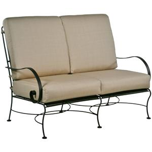 Love Seat with Curved Arms