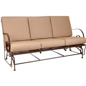 Glider Sofa with Curved Arms