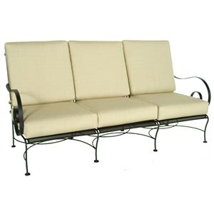 Sofa with Curved Arms and Arched Back