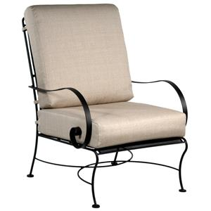 Lounge Chair with Curved Arms