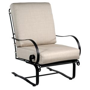 Lounge Chair with Spring Base and Curved Arms