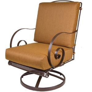 Swivel Rocker Lounge Chair with Curved Arms