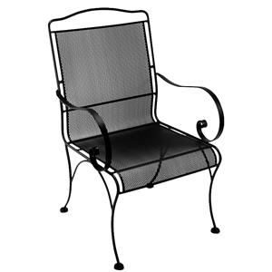 Dining Arm Chair with Elegant Curved Arms
