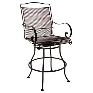 Swivel Counter Stool with Curved Arms