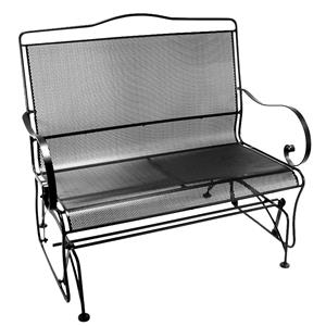 Settee Glider with Curved Arms